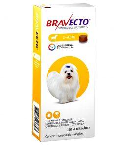 Antipulgas e Carrapatos Bravecto 112,5mg para Cães 2 à 4,5kg com 1 comprimido